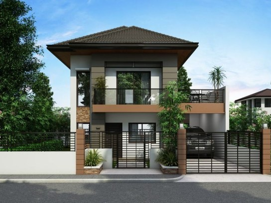 Simple House With Warm Wooden Interior 06