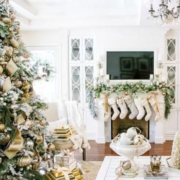 Adorable White Christmas Decoration Ideas 36