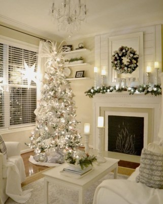 Adorable White Christmas Decoration Ideas 43