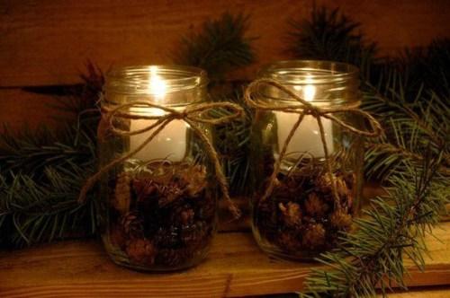 Charming Christmas Candle Decor Ideas 06