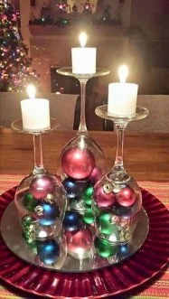 Charming Christmas Candle Decor Ideas 07
