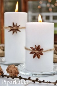 Charming Christmas Candle Decor Ideas 10