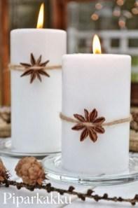 Charming Christmas Candle Decor Ideas 10