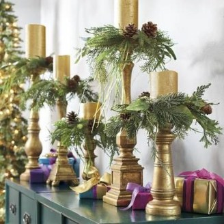 Charming Christmas Candle Decor Ideas 18