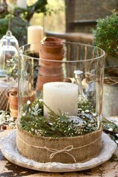 Charming Christmas Candle Decor Ideas 25