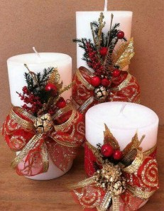 Charming Christmas Candle Decor Ideas 48