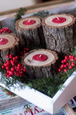 Charming Christmas Candle Decor Ideas 53
