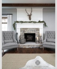 Comfy Winter Living Room Ideas With Fireplace 01