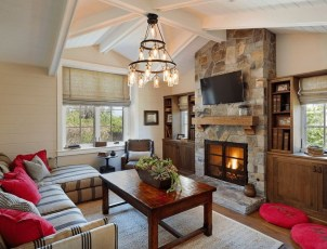 Comfy Winter Living Room Ideas With Fireplace 02