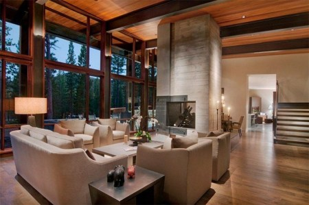Comfy Winter Living Room Ideas With Fireplace 19