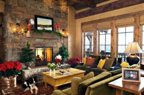 Comfy Winter Living Room Ideas With Fireplace 32