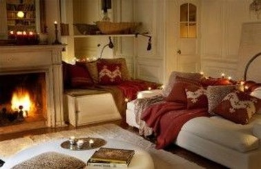 Comfy Winter Living Room Ideas With Fireplace 46