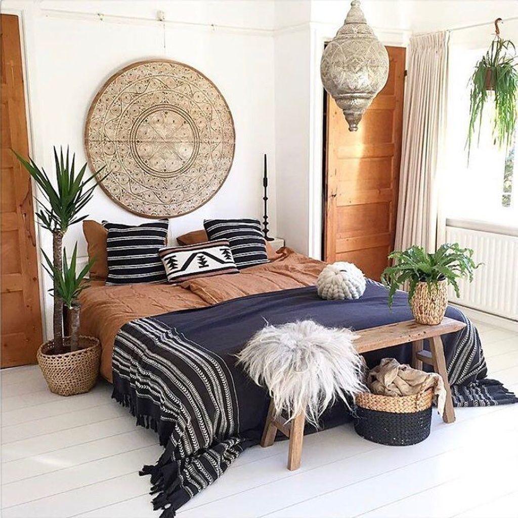 30+ Elegant Bohemian Bedroom Decor Ideas - TRENDECORS on Bohemian Bedroom Ideas  id=36870