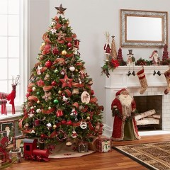 Lovely Red And Green Christmas Home Decor Ideas 13