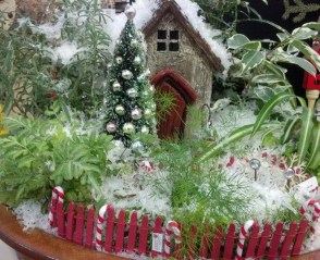 Pretty Diy Christmas Fairy Garden Ideas 04