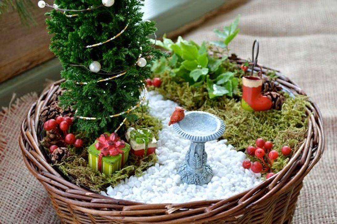 Pretty Diy Christmas Fairy Garden Ideas 22