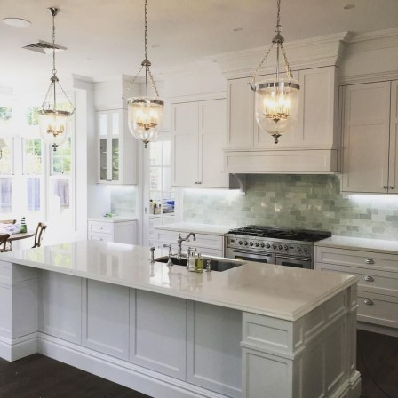 Elegant Beach Coastal Style Kitchen Decor Ideas 08
