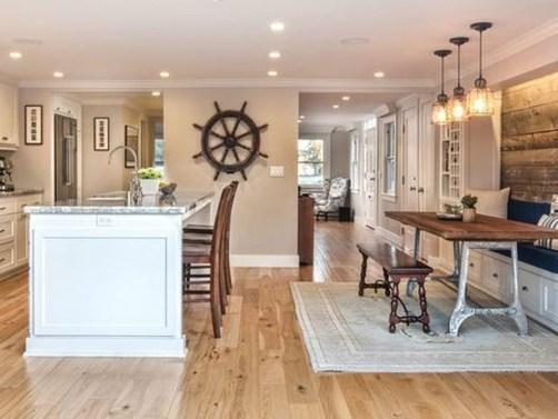 Elegant Beach Coastal Style Kitchen Decor Ideas 11