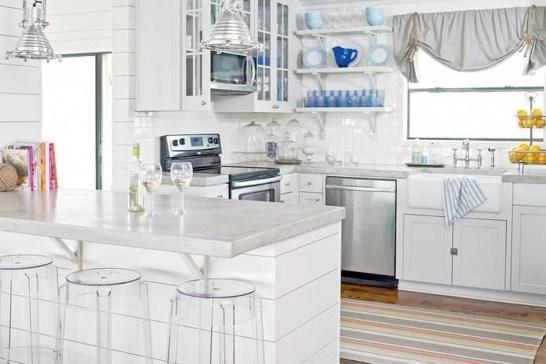 Elegant Beach Coastal Style Kitchen Decor Ideas 47