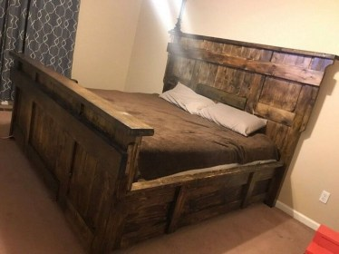 Lovely Diy Wooden Platform Bed Design Ideas 16