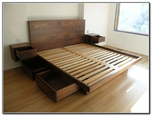 Lovely Diy Wooden Platform Bed Design Ideas 21