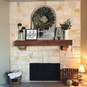 Popular Farmhouse Mantel Decorating Ideas 45