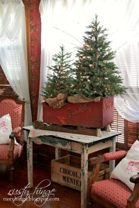 Romantic Rustic Christmas Decoration Ideas 31
