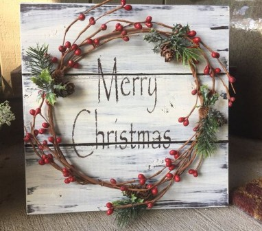 Romantic Rustic Christmas Decoration Ideas 33