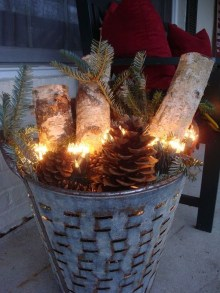 Romantic Rustic Christmas Decoration Ideas 38