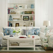 Stylish Coastal Themed Living Room Decor Ideas 38