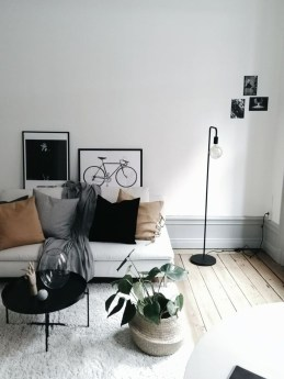 Affordable Apartment Living Room Design Ideas With Black And White Style 07