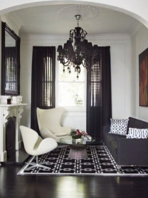 Affordable Apartment Living Room Design Ideas With Black And White Style 15