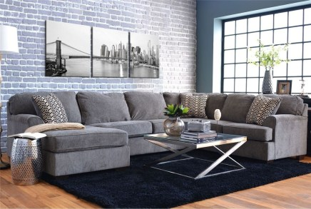 Affordable Apartment Living Room Design Ideas With Black And White Style 19
