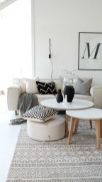 Affordable Apartment Living Room Design Ideas With Black And White Style 22