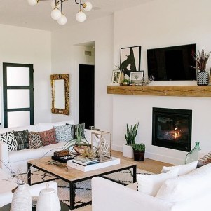 Affordable Apartment Living Room Design Ideas With Black And White Style 25