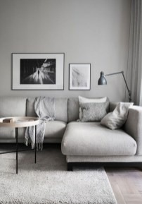 Affordable Apartment Living Room Design Ideas With Black And White Style 29