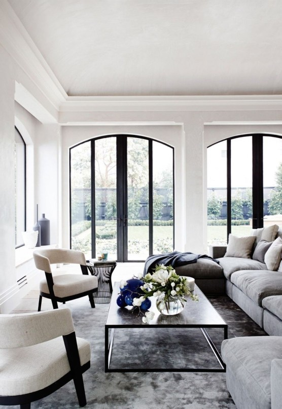 Affordable Apartment Living Room Design Ideas With Black And White Style 46