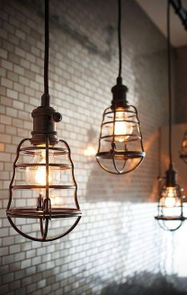 Charming Industrial Lighting Design Ideas For Home 04