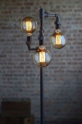 Charming Industrial Lighting Design Ideas For Home 08