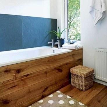 Comfy Farmhouse Wooden Bathroom Design Ideas 11