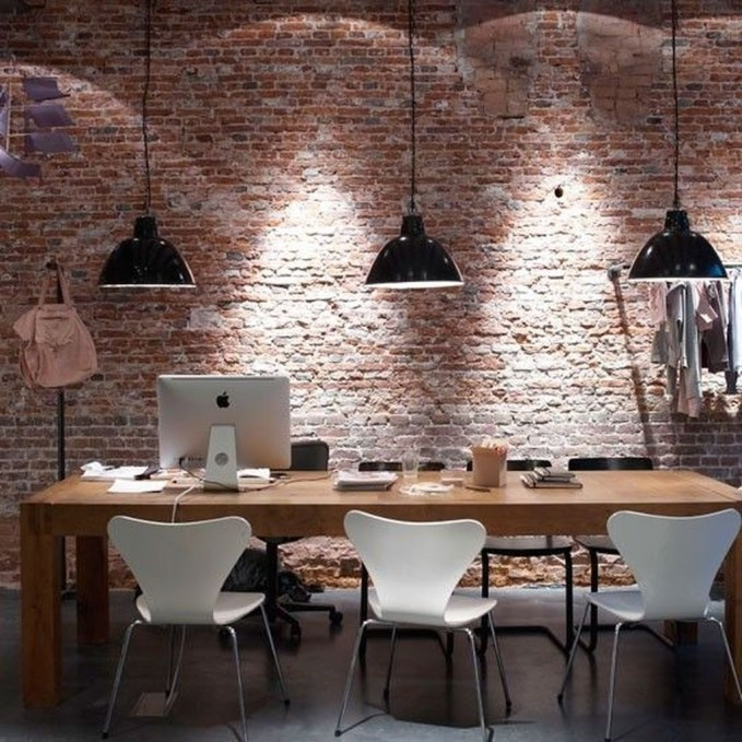 Gorgeous Industrial Table Design Ideas For Home Office 18