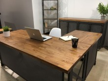 Gorgeous Industrial Table Design Ideas For Home Office 24