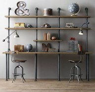 Gorgeous Industrial Table Design Ideas For Home Office 46