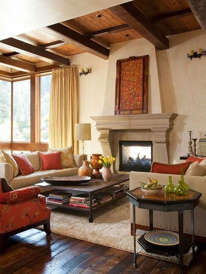 Luxury European Living Room Decor Ideas With Tuscan Style 11