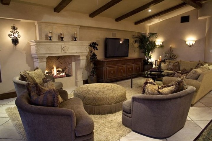 Luxury European Living Room Decor Ideas With Tuscan Style 15