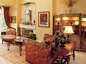 Luxury European Living Room Decor Ideas With Tuscan Style 31