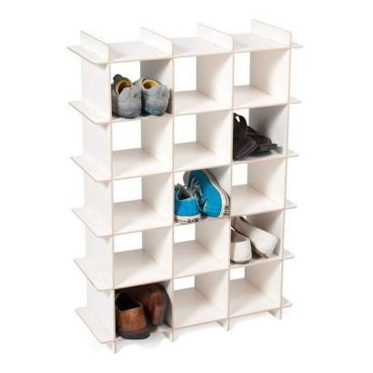 Minimalist Tiny Apartment Shoe Storage Design Ideas 07