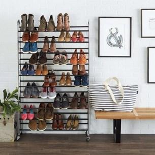 Minimalist Tiny Apartment Shoe Storage Design Ideas 10