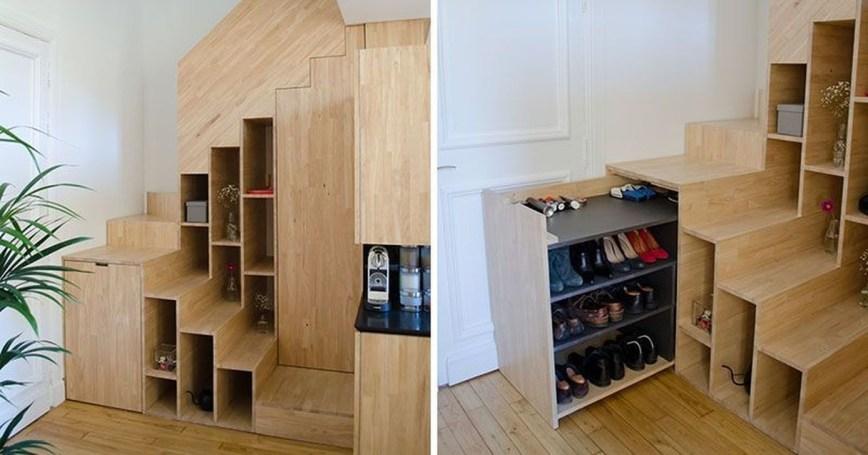 Minimalist Tiny Apartment Shoe Storage Design Ideas 45