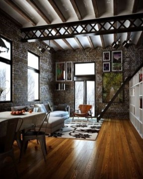 Perfect Industrial Style Loft Designs Ideas For Living Room 15